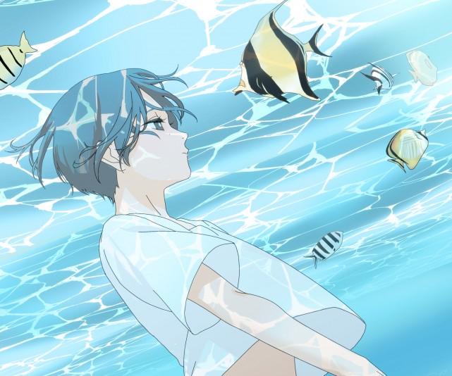Yotasuke Takahashi, Blue period Wallpaper, Digital Art