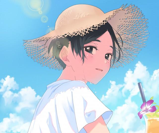 Yotasuke Takahashi, Kawai, Blue period Wallpaper, Digital Art, Cute