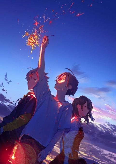 Summer Ghost Wallpaper, Aoi Harukawa, Tomoya Sugisaki, Ryou Kobayashi, Ayane Satou, Anime