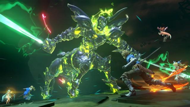 Ultra HD 4K Grandblue Fantasy Relink Fighting Monster PS5 Wallpaper