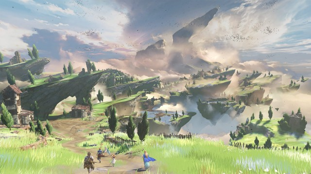 Grandblue Fantasy Relink Game Landscape Scenery 4K Wallpaper