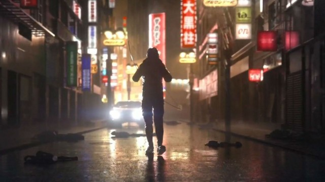 Ghostwire Tokyo Wallpapers mask man Wallking Street