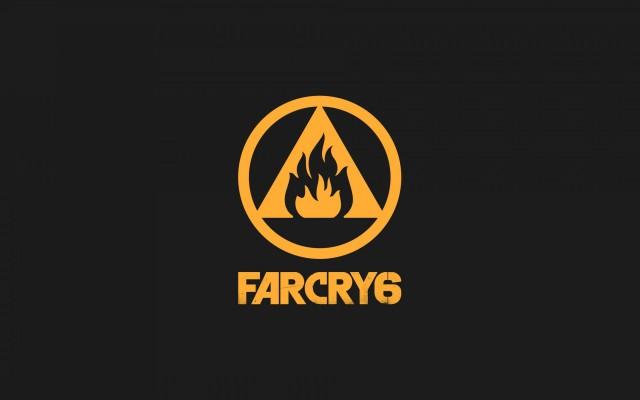 Far Cry 6, 2021, poster, Far Cry 6 logo, gray background