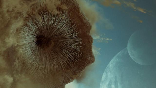 Dune (2021) 4k Ultra HD Wallpaper, Dune monster Sandworm