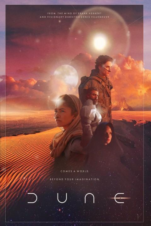 Dune Aesthetic Wallpaper, Dune HD 2021 Movie Poster Wallpaper